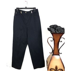 St. John Blue Vintage High Waisted Pants 10